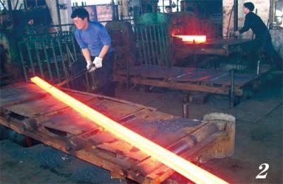 轧钢车间生产线