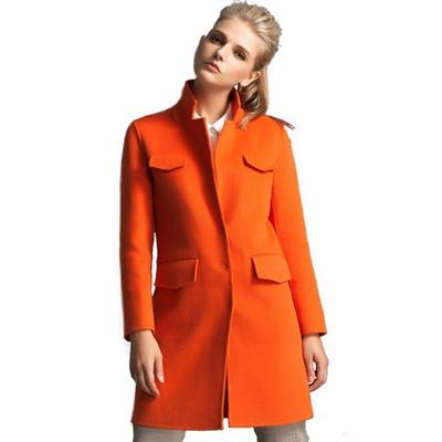 橘色时尚风衣