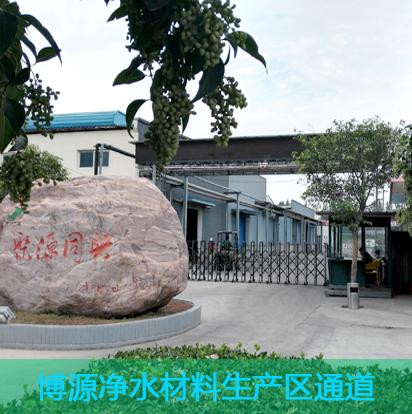 博源新材聚丙烯酰胺廠家生產區大門通道