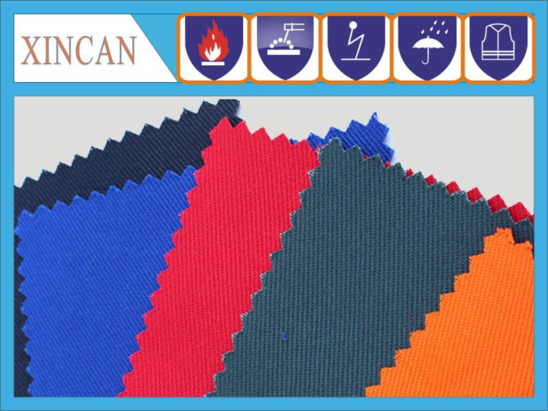 全棉阻燃纱卡面料 阻燃斜纹布 防火纺织品材料