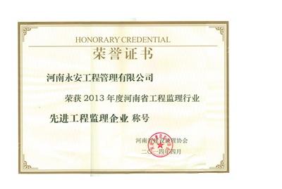 2013年省先進監理企業