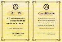 2016年河南省质量诚信体系建设AA级工业企业