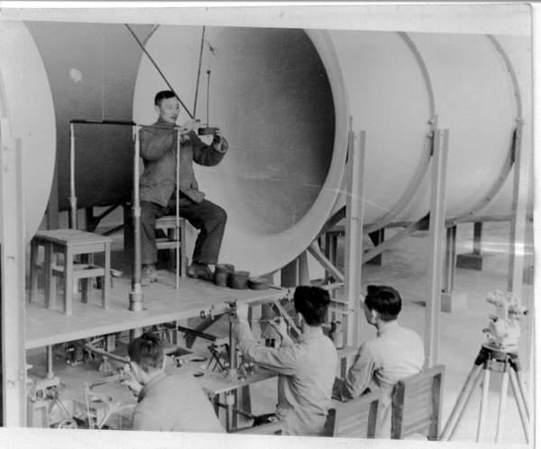 1955年,风洞建设--风洞实验室校正天平