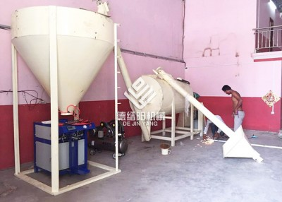 Manual Feeding LD Series Dry Mortar Mixer Line Export To Cambodia