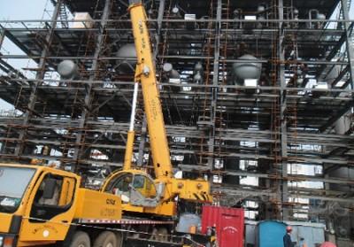 鋼結構安裝施工現場