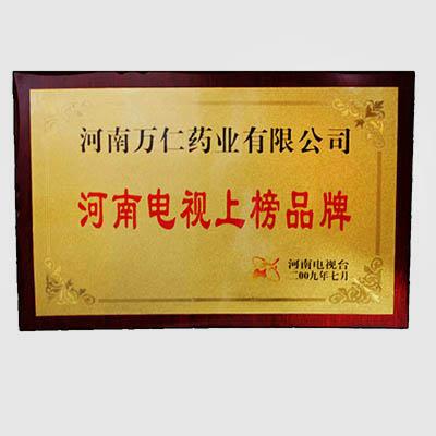 河南电视上榜品牌