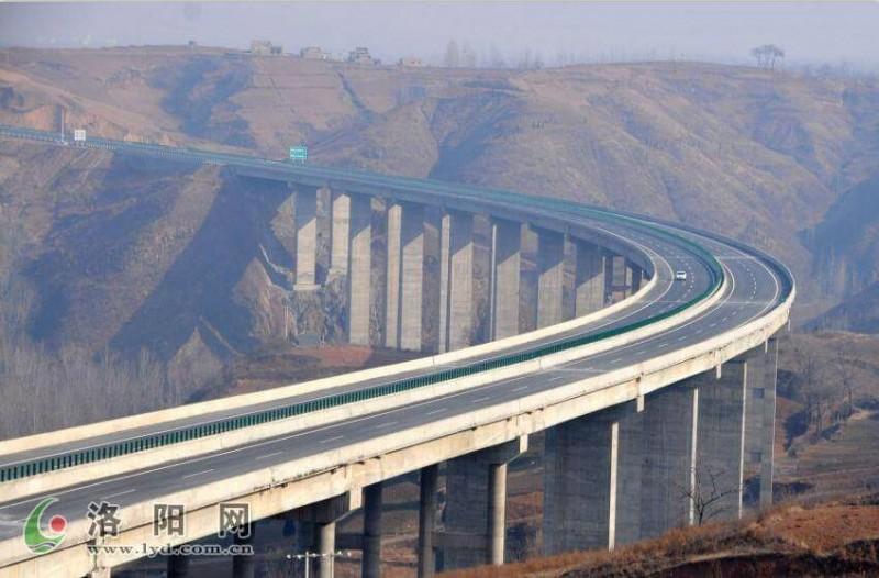 郑卢高速洛阳至卢氏段公路项目-请把图片上的左下角的字去掉,谢谢