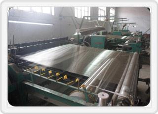 金属丝网生产现场