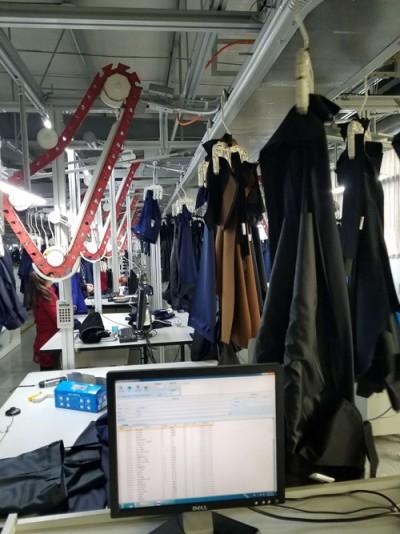 全智能化服装定制生产流水线
