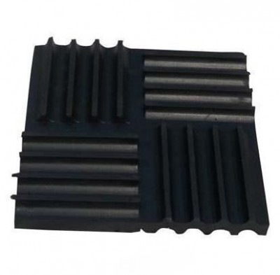 Railway rubber vibration isolation pads