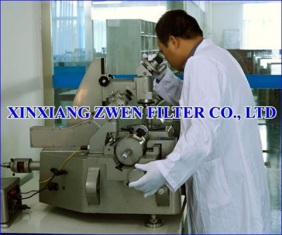 XINXIANG ZWEN FILTER CO.,LTD PORE SIZE TEST