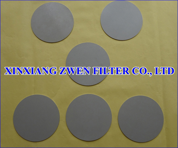 Titanium Powder Filter Disc