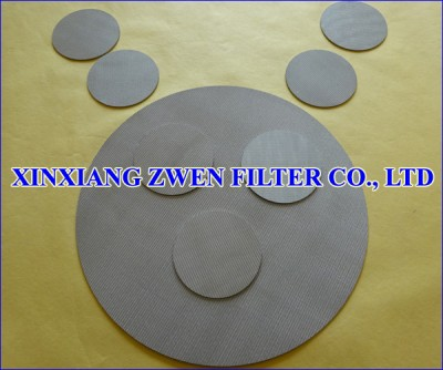 Sintered Wire Mesh Disc