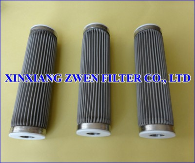 Pleated Sintered Fiber Felt Filter Element