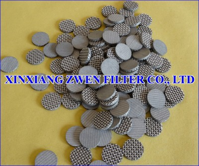 Sintered Metal Mesh Filter Disc
