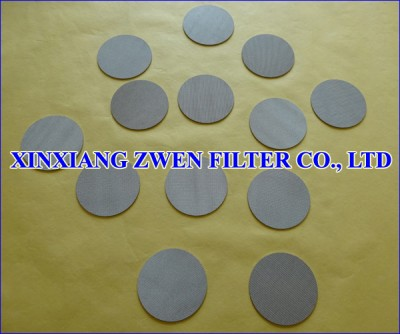 Sintered Metal Circular Filter Disc