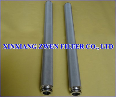 Cylindrical Sintered Filter