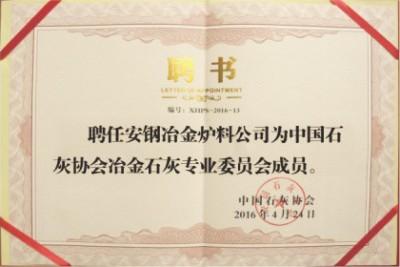 中国石灰协会冶金石灰******委员会成员