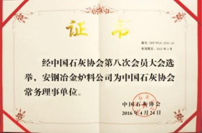 中国石灰协会常务理事单位