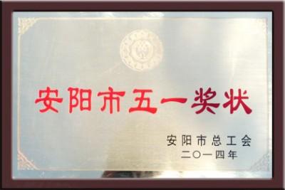 2014年安阳市五一奖状
