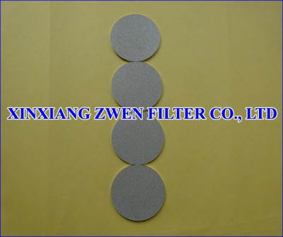 Stainless Steel Porous Filter Disc