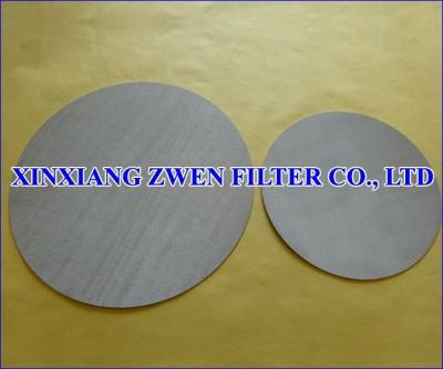 Metal Porous Filter Disc