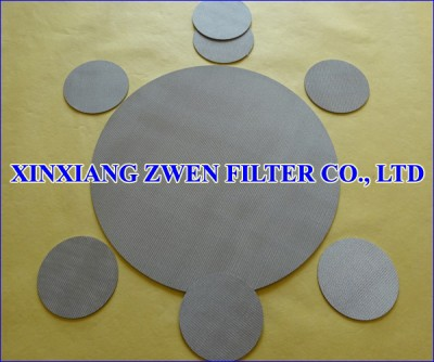 Sintered Metal Circuclar Filter Disc