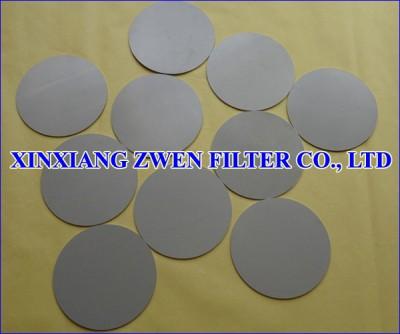 Sintered Fiber Felt Filter Disc