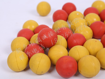 彩色橡胶球