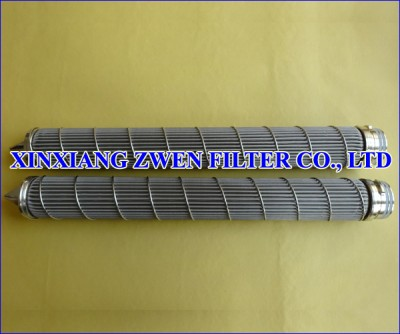 Pleated Sintered Fiber Felt Filter Cartridge