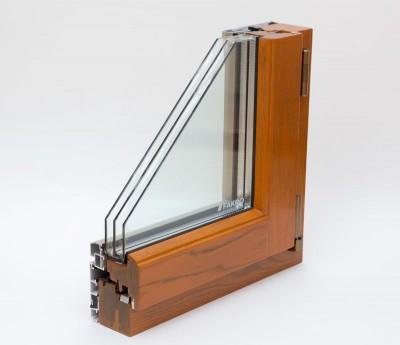 HL90铝木防蚊防护一体窗