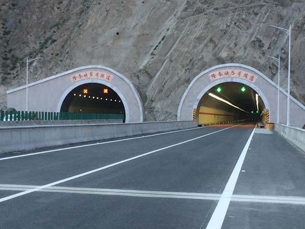 青海牙同高速隆務峽隧道裝飾防火