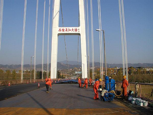 长江三峡西陵大桥环保喷砂防腐