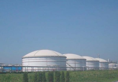 上海赛科五万立石脑油罐喷铝