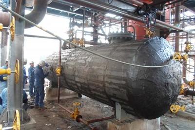 燕山石化炼油三厂酮笨装置设备保冷