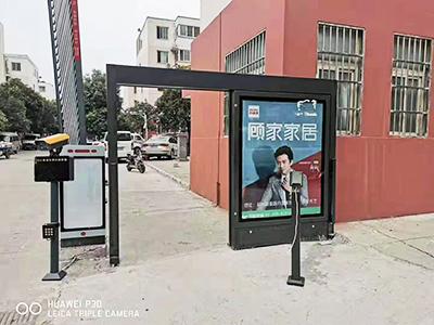 小区平移广告门