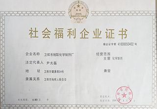 社会福利企业证书