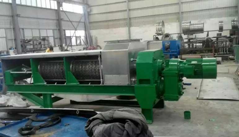 螺旋压榨机处理物料