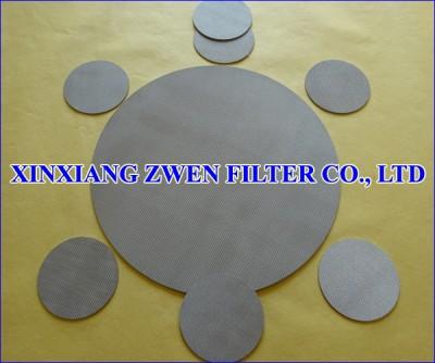 SS Sintered Metal Filter Disc