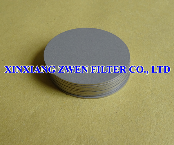 Titanium Sintered Porous Filter Disc