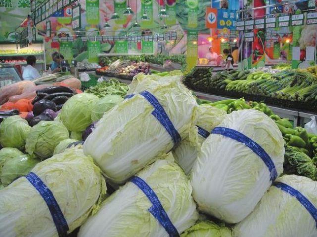 超市捆菜过程