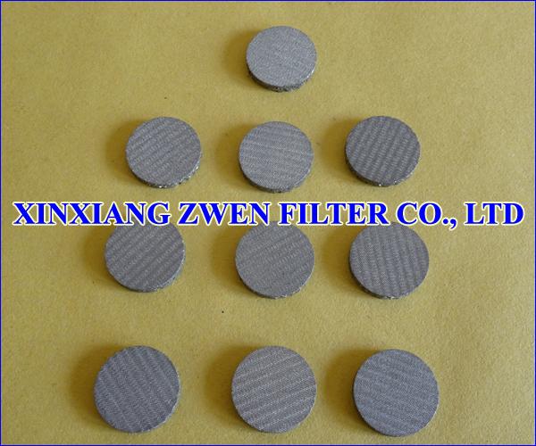 Sintered Metal Mesh Filter Disk