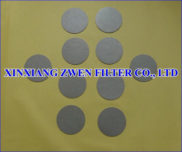 Titanium Sintered Powder Filter Disc