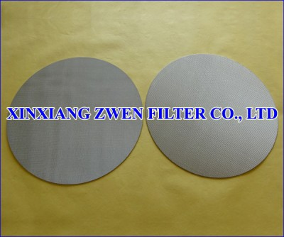 Stainless Steel Sintered Porous Filter Disc