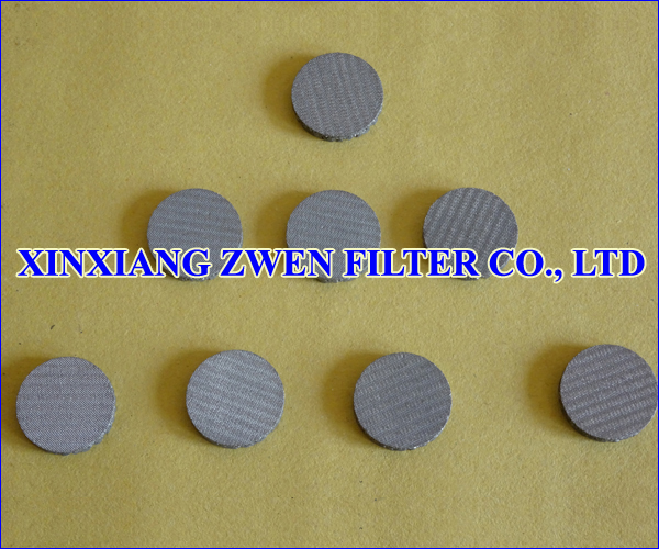 Stainless Steel Sintered Metal Filter Disc