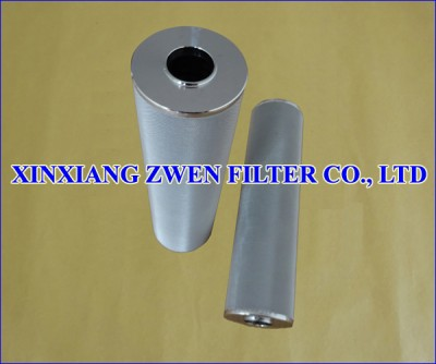 Cylindrical Sintered Fiber Felt Filter Cartridge