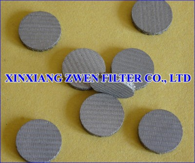 Sintered Mesh Filter Disk