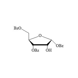 1,3,5-三苯甲酰基-D-呋喃核糖1,3,5-Tri-O-benzoyl-D-ribofuranose.png