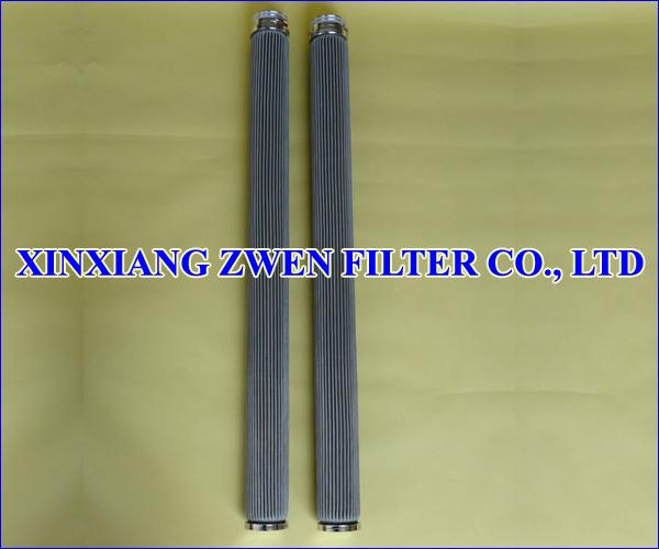 Pleated Sintered Fiber Felt Filter