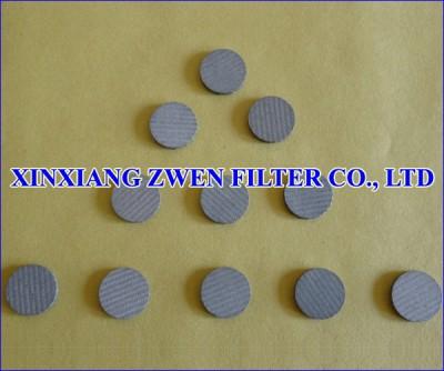 Sintered Porous Filter Disk